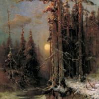 Юлий Юльевич Клевер. Закат солнца зимой (Зимний вечер)