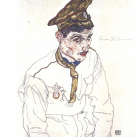Egon Schiele. Portrait of a Russian prisoner of war Grigori's Clarisol