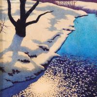 Максфилд Пэрриш. Берег реки зимой