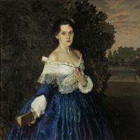 Дама в голубом. Портрет Елизаветы Михайловны Мартыновой