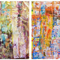 """Magic dreams. Diptych N3"""