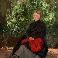 Анри Руар. Женщина в саду