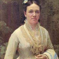Portrait Of Vera Nikolaevna Tretyakova. Fragment