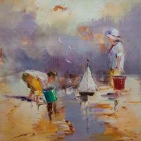 Дети на морском берегу. N16