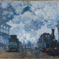 Вокзал Сен-Лазар в Париже, прибытие поезда