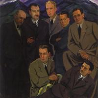 Адальберт Михайлович Эрдели. Групповой портрет ужгородских художников