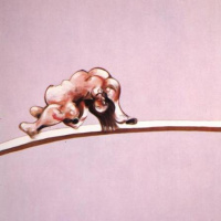 Фрэнсис Бэкон. Триптих эскиз человеческого тела. Левая часть