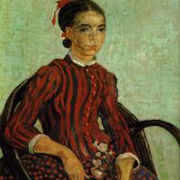 Винсент Ван Гог. Мосуме сидящая в плетеном кресле