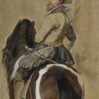 Питер Пауль Рубенс. Эскиз коня и всадника