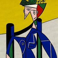 Рой Лихтенштейн. Женщина в инвалидном кресле