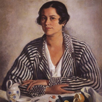 Зинаида Евгеньевна Серебрякова. Портрет М. А. Тройницкой.