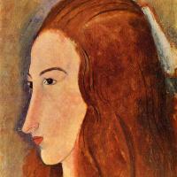 Амедео Модильяни. Профиль рыжеволосой девушки