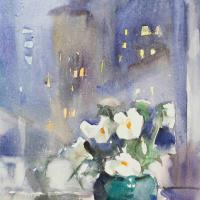 Мария Владимировна Мыслина. Цветы на окне