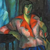 Роберт Рафаилович Фальк. Портрет женщины в розовом