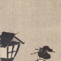 Utagawa Hiroshige. The girl at the lantern on a moonlit night