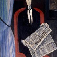 Портрет мужчины с газетой