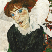 Egon Schiele. Portrait Of Wally