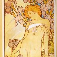 "Alfons Mucha. Iris. From the series ""Flowers"""