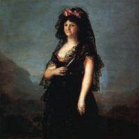 Francisco Goya. Portrait of Queen Maria Luisa in a Mantilla