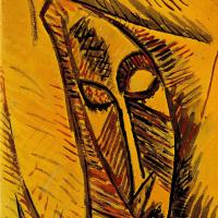 Пабло Пикассо. Обнаженная с драпировкой. Этюд