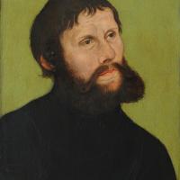 Лукас Кранах Старший. Портрет Мартина Лютера в образе Юнкера Йорка