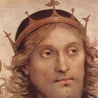 Пьетро Перуджино. Бог-Отец с пророками и сивиллами, фрагмент. Фрески Колледжо дель Камбио