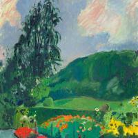 Куно Амье. Пейзаж с цветником