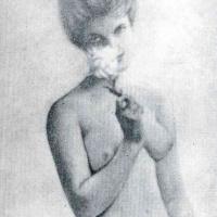 Франсис Пикабиа. Обнаженная девушка с цветком
