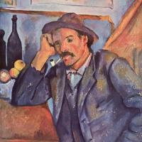 Поль Сезанн. Мужчина с трубкой