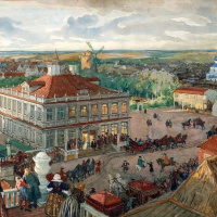 In the German quarter. Departure of Tsar Peter I of the house Lefort