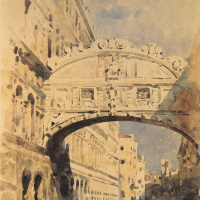 The bridge of sighs. Venice