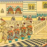 """Алладин и волшебная лампа. Иллюстрация к сборнику сказок """"Тысяча и одна ночь"""""""
