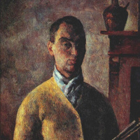 Robert Rafailovich Falk. Self-portrait in yellow