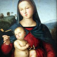 Рафаэль Санти. Мадонна Солли (Мадонна с младенцем и книгой, Мадонна Нортона Саймона)