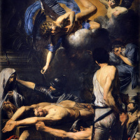 The martyrdom of saints Martinian and Process