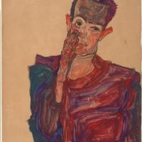 Эгон Шиле. Автопортрет с рукой у щеки