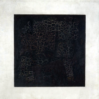 Black Suprematist square