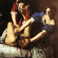 Юдифь, обезглавливающая Олоферна