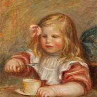 Пьер Огюст Ренуар. Коко ест суп