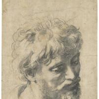 """Рафаэль Санти. Голова молодого апостола. Эскиз к картине """"Преображение"""""""