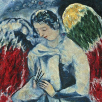 Марк Захарович Шагал. Ангел с палитрой