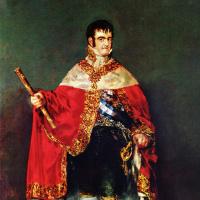 Франсиско Гойя. Портрет короля Фердинанда VII с королевскими регалиями