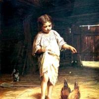 Фирс Сергеевич Журавлев. Девочка с курами