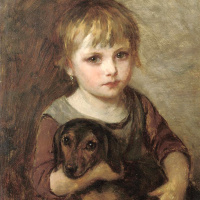 The girl with the Dachshund