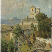 Василий Дмитриевич Поленов. Из окна квартиры в Риме