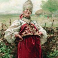 Константин Егорович Маковский. У околицы