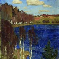 Isaac Levitan. The lake. Spring