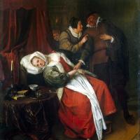 Ян Стен. Больная и врач (Визит доктора)
