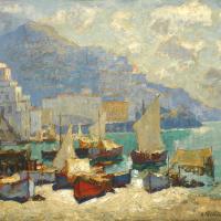 Konstantin Ivanovich Gorbatov. View Of Amalfi.