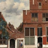 Little street in Delft